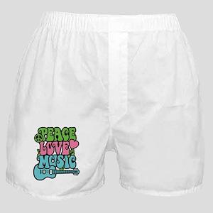 Peace-Love-Music Boxer Shorts