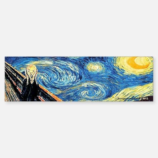 Van Gogh and Munch Bumper Bumper Bumper Sticker
