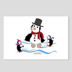 Penguin Snowman Postcards (Package of 8)