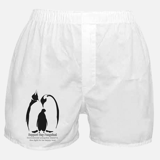 Support Gay Penguins! Boxer Shorts