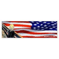 The Scream - USA Bumper Bumper Sticker