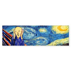 Munch Meets Van Gogh Bumper Bumper Sticker