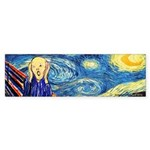 Munch Meets Van Gogh Bumper Sticker