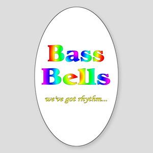Bass Bells Oval Sticker