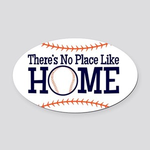 No Place Like Home Oval Car Magnet