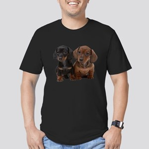 Dachshunds Men's Fitted T-Shirt (dark)