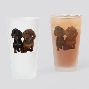 Dachshunds Drinking Glass