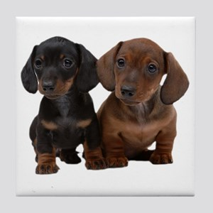 Dachshunds Tile Coaster