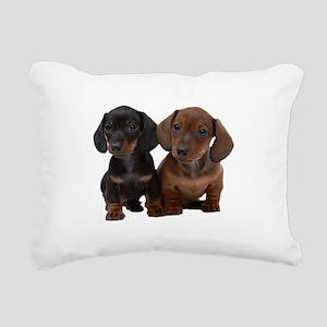Dachshunds Rectangular Canvas Pillow