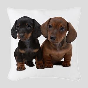 Dachshunds Woven Throw Pillow