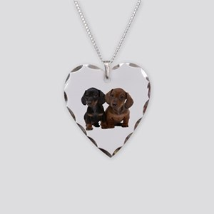 Dachshunds Necklace Heart Charm