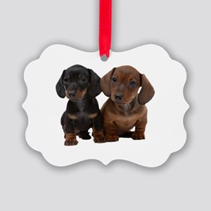 Dachshunds Picture Ornament