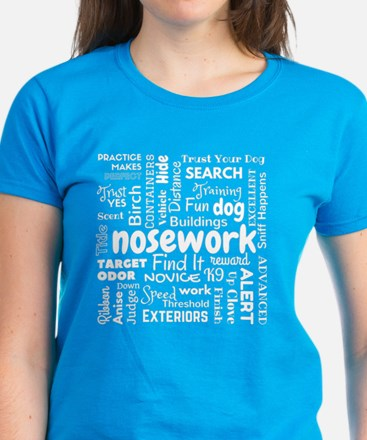 Fun with Nosework Words T-Shirt