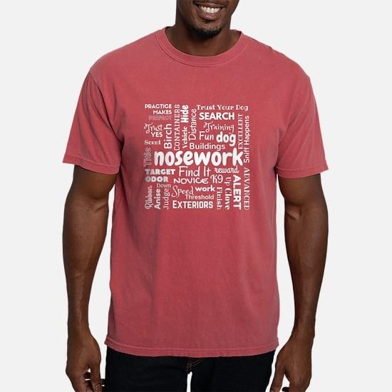 Fun with Nosework Words Mens Comfort Colors Shirt
