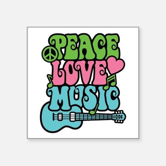 Peace-Love-Music Sticker