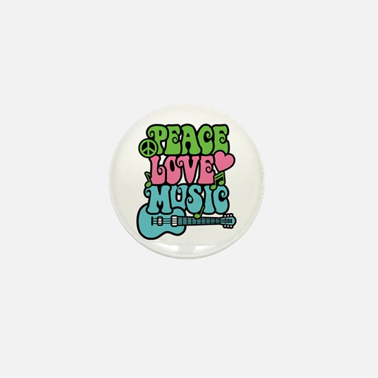 Peace-Love-Music Mini Button