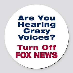 Turn Off Fox News Round Car Magnet