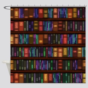 Old Bookshelves Shower Curtain