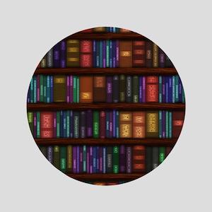 "Old Bookshelves 3.5"" Button"