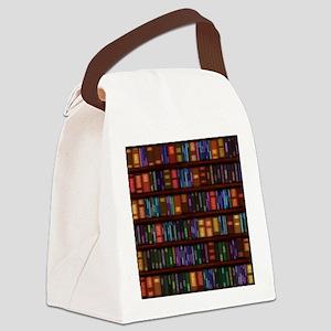 Old Bookshelves Canvas Lunch Bag