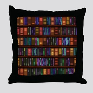 Old Bookshelves Throw Pillow