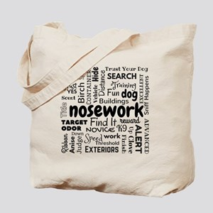 Fun With Nosework Words Tote Bag
