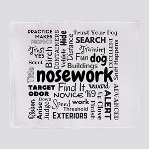 Fun With Nosework Words Throw Blanket