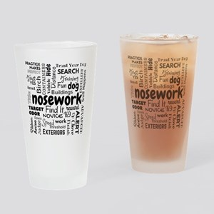 Fun With Nosework Words Drinking Glass