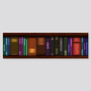 Old Bookshelves Sticker (Bumper)