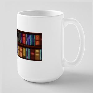 Old Bookshelves Large Mug