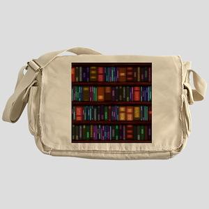 Old Bookshelves Messenger Bag