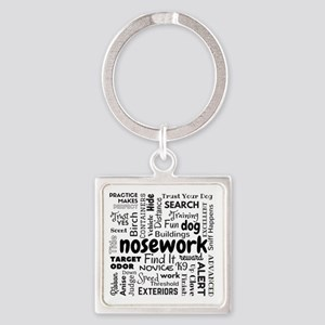 Fun With Nosework Words Keychains