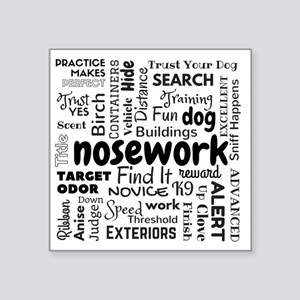 Fun With Nosework Words Sticker