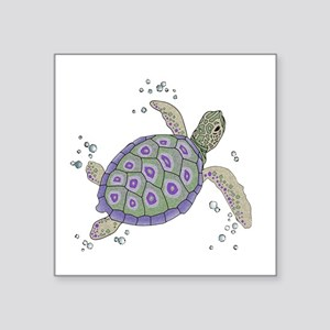 Swimming Sea Turtle Sticker