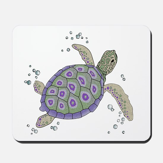 Swimming Sea Turtle Mousepad
