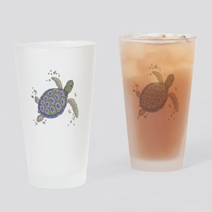 Swimming Sea Turtle Drinking Glass