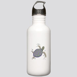 Swimming Sea Turtle Water Bottle