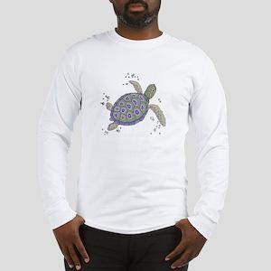 Swimming Sea Turtle Long Sleeve T-Shirt