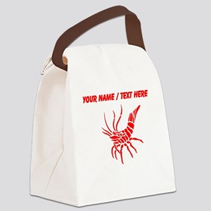 Personalized Red Shrimp Canvas Lunch Bag