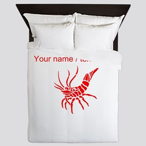 Personalized Red Shrimp Queen Duvet
