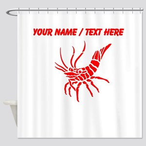 Personalized Red Shrimp Shower Curtain