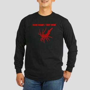 Personalized Red Shrimp Long Sleeve T-Shirt