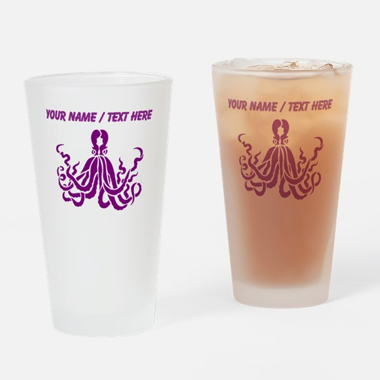 Personalized Purple Octopus Drinking Glass