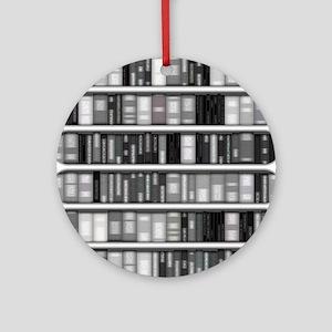 Modern Bookshelf Ornament (Round)