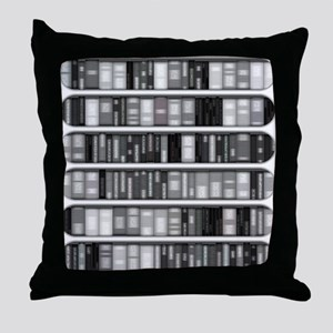 Modern Bookshelf Throw Pillow