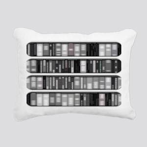 Modern Bookshelf Rectangular Canvas Pillow