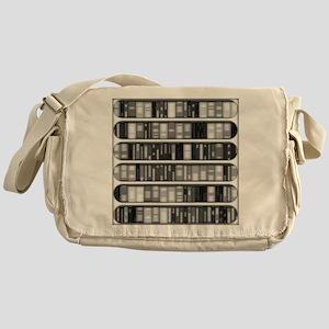 Modern Bookshelf Messenger Bag