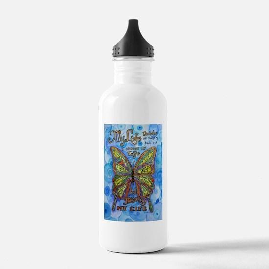 Diabetes Butterfly Water Bottle