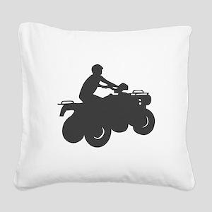 4 Wheeler AVT Square Canvas Pillow