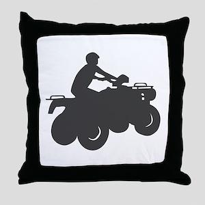 4 Wheeler AVT Throw Pillow